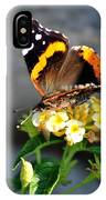 Butterfly Sipping Lantana Luscious Lemonade   IPhone Case