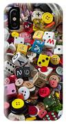 Buttons And Dice IPhone Case by Garry Gay