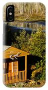 Cabin On The River IPhone Case