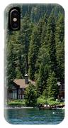 Cabins On The Lake Tahoe IPhone Case