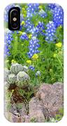 Cactus And Bluebonnets 2am-28694 IPhone Case
