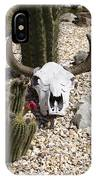 Cactus And Cow Skull IPhone Case