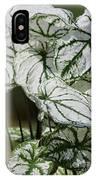Caladium Named White Christmas IPhone Case