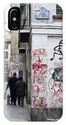 Calle Alvaro De Bazan Graffiti IPhone Case