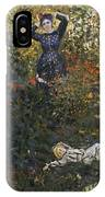 Camille And Jean In The Garden At Argenteuil  IPhone Case