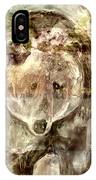 Camouflaged Bear IPhone Case