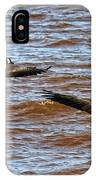 Canada Geese In Flight Lake Superior IPhone Case
