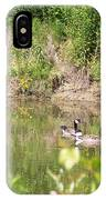 Canada Geese On Pond IPhone Case