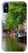 Canal Scene In Amsterdam IPhone Case