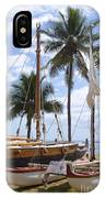 Canoes At Hui O Waa Lahaina Maui Hawaii IPhone Case
