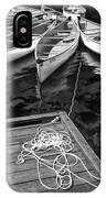 Canoes Docked At Lost Lake IPhone Case