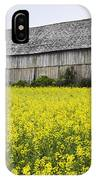 Canola Field And Old Barn IPhone Case