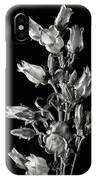 Canterbury Bells In Black And White IPhone Case