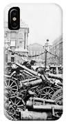 Captured German Guns At Palace De La Concorde In Paris - France IPhone Case
