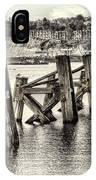 Cardiff Bay Old Jetty Supports Opal IPhone Case