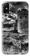 Carew Castle Pembrokeshire 4 Mono IPhone Case