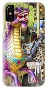 Carousal Dragon And Seal On A Merry-go-round IPhone Case