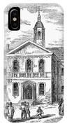 Carpenters Hall, 1855 IPhone Case