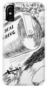 Cartoon: New Deal, 1936 IPhone Case