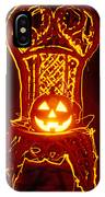 Carved Smiling Pumpkin On Chair IPhone Case