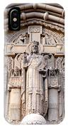 Carved Stone Biblical Mural Above Catholic Cathedral Doorway  IPhone Case