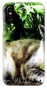 Cat Relaxing In Garden IPhone Case