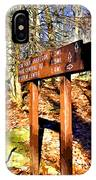 Catoctin Trail Sign IPhone Case
