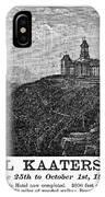Catskills Hotel, 1884 IPhone Case