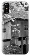 Cedar Creek Grist Mill Bw IPhone Case