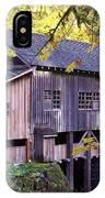 Cedar Creek Grist Mill In Autumn IPhone Case
