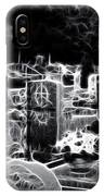 Cemetary At Night IPhone Case