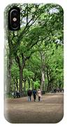 Central Park Arbor Walk Spring IPhone Case