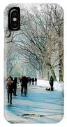 Central Park In Winter IPhone Case