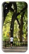 Central Park Jogging IPhone Case