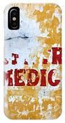 Centro Medico Sign IPhone Case