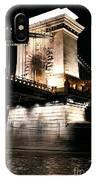Chain Bridge At Night IPhone Case