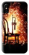 Chair And Horn With Fireworks IPhone Case