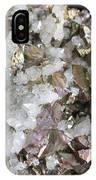 Chalcopyrite And Quartz Crystals IPhone Case
