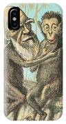 Charles Darwin Caricature, 1874 IPhone Case