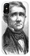 Charles Goodyear /n(1800-1860). American Inventor. Line Engraving, 19th Century IPhone Case