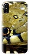 Checkered Garter Snakes Head IPhone Case