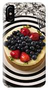 Cheese Cake On Black And White Plate IPhone Case