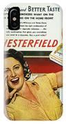 Chesterfield Cigarette Ad IPhone Case