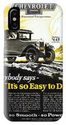 Chevrolet Ad, 1926 IPhone Case