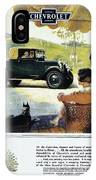 Chevrolet Ad, 1927 IPhone Case
