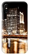 Chicago At Night At State Street Bridge IPhone Case