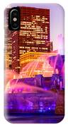 Chicago At Night With Buckingham Fountain IPhone Case