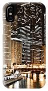 Chicago City Skyline At Night IPhone Case