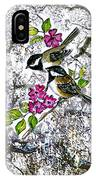 Chickadees In The Filbert Tree IPhone Case