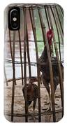 Chickens In Bamboo Cage IPhone Case
